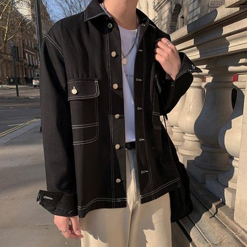ブラックデニムジャケット BL5533