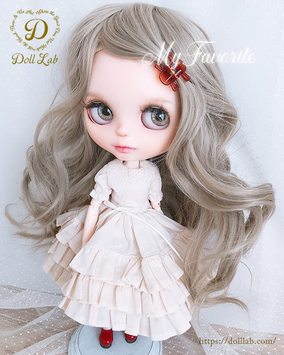 DWL014-A096-10inアリスシフォン[10inch]カフェオレミルク 髪なしブライス ドール ウィッグ