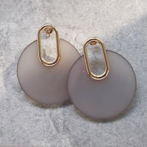 PIERCINGS || 【通常商品】 GLASS CIRCLE PERCINGS GRAY || 1 PIERCINGS || GRAY || FBF964