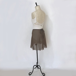 """❖""""Fiorina"""" Ballet Wrap Skirt - Olive Brown [Sheer]( オリーブブラウン [シアー])"""