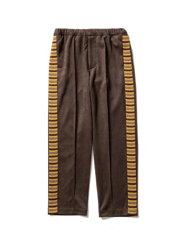 Sasquatchfabrix. / SYNTHETIC SUEDE TRACK PANTS(BROWN)