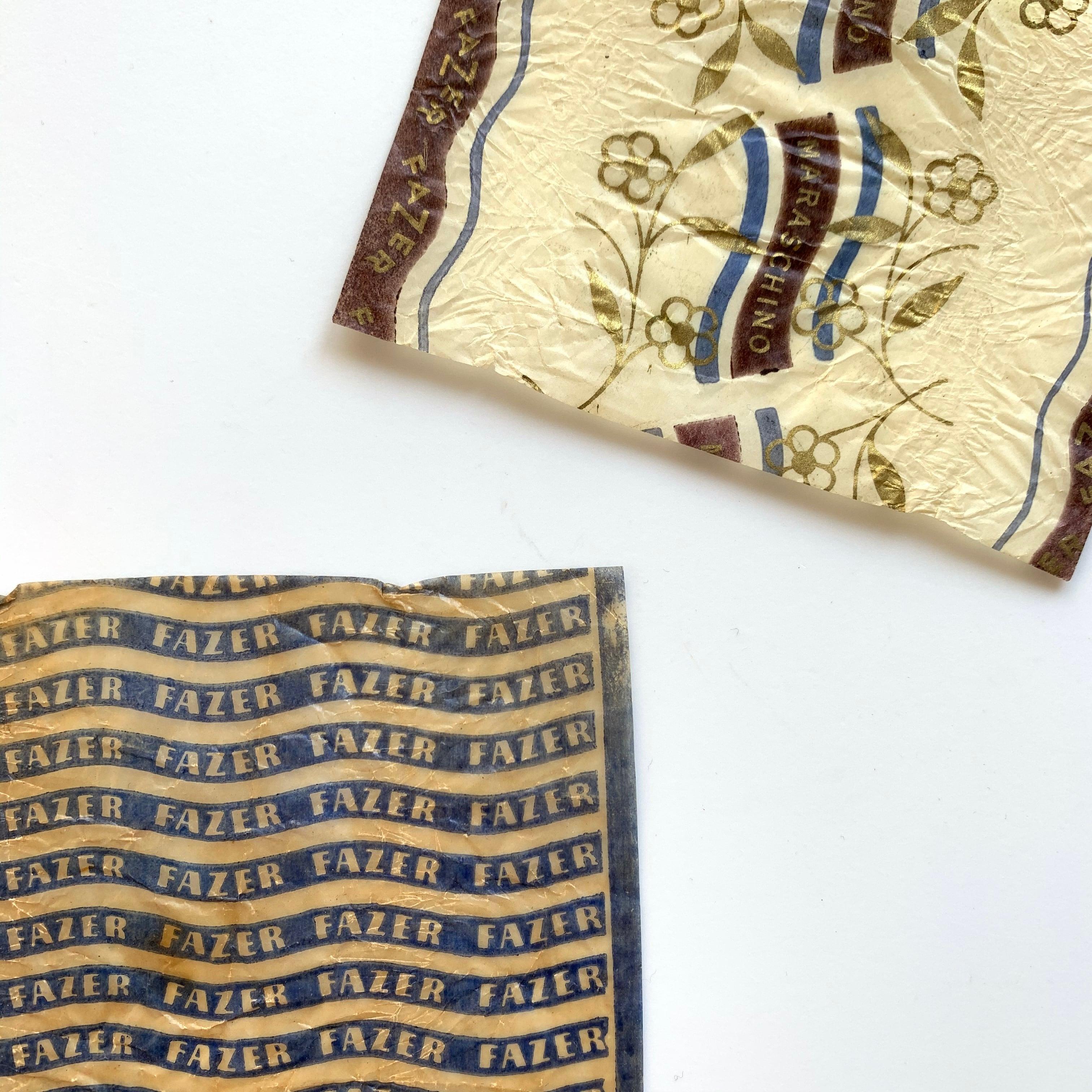 FAZER / vintage candy wrapper[A]