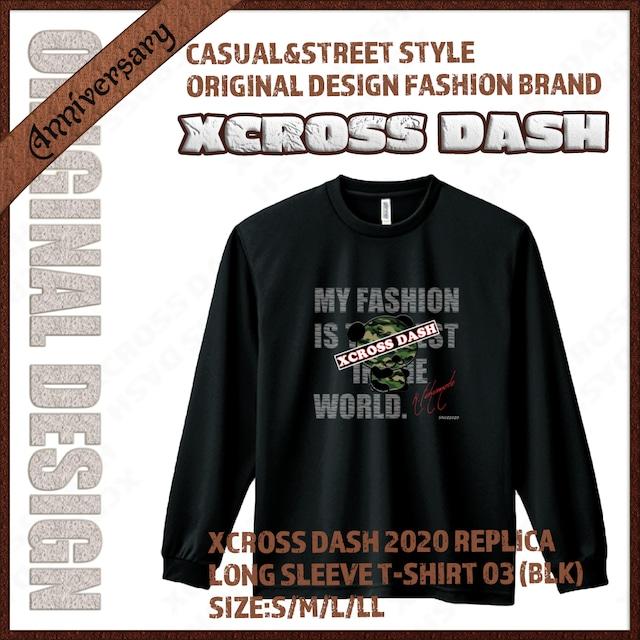 XCROSS DASH 2020 REPLICA Long sleeve T-SHIRT 03 (BLK) レプリカデザイン長袖Tシャツ