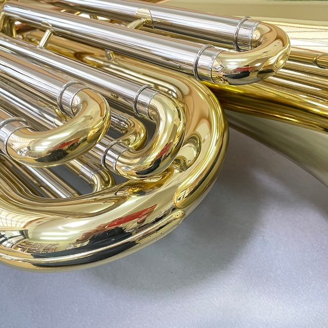 【中古特価品】【B♭テューバ】【動作良好】PRESON(プレソン) 中古B♭テューバ PRB-2500 3/4サイズ 4ピストンフロントアクション 【送料無料】Tuba