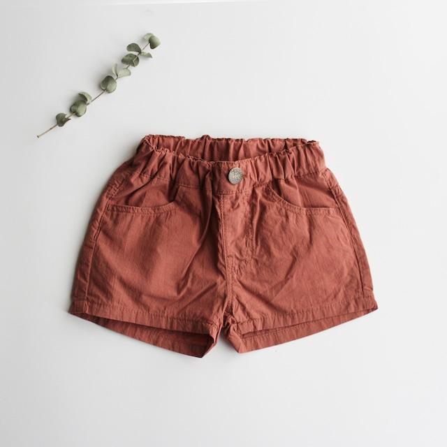 OCEAN&GROUND mini shorts 1037206 80-140 ブラウン ※メール便可
