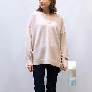 MICA&DEAL(マイカアンドディール) Vネックワイドプルオーバーニット 2021秋冬新作 [送料無料]