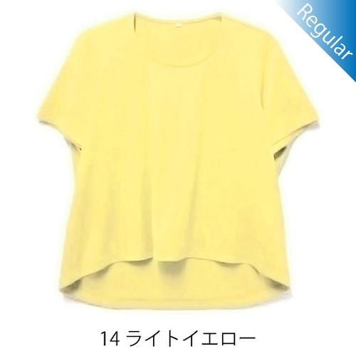 半袖丸首Tシャツ / 14ライトイエロー / 身長152cm→142cm / アイラブグランマ・スムースネック / 型番TC02-152