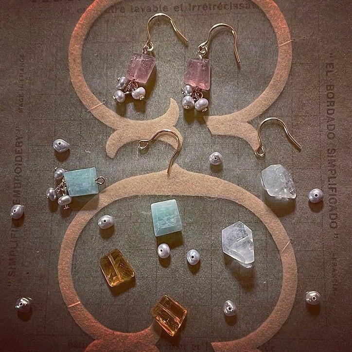 Petit bonheur /選べる天然石のピアスorイヤリング【受注制作】