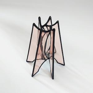 一輪挿し [ 井上ヒデコ  ステンドグラス ]   PINK H115