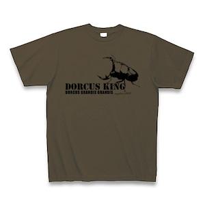 グランディスオオクワガタ Tシャツ -maylime- オリジナルデザイン オリーブ