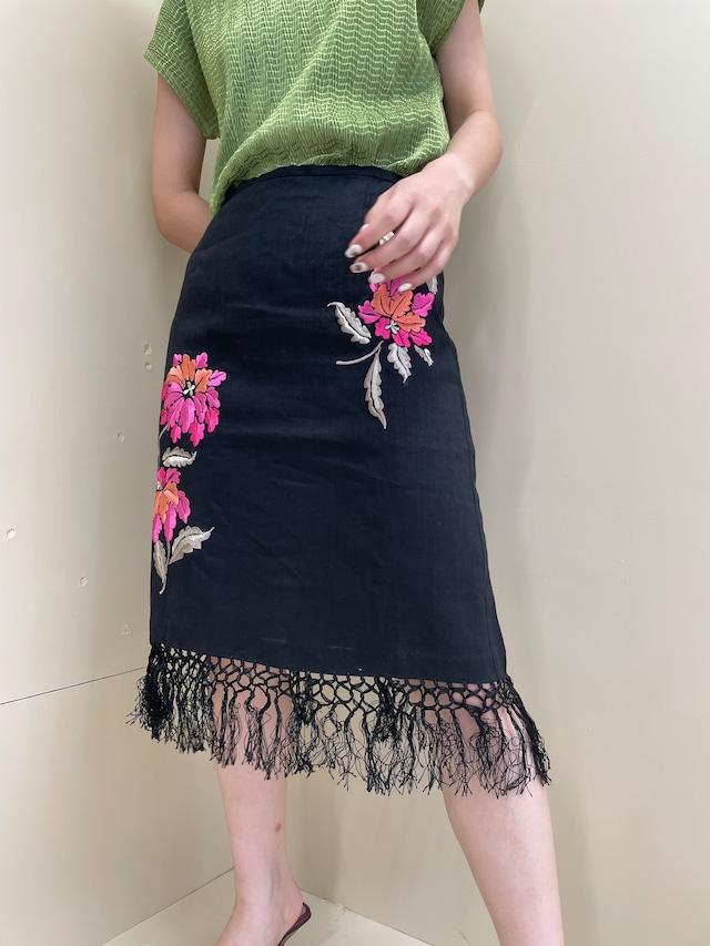 embroidery design skirt / 7SSSK27-14