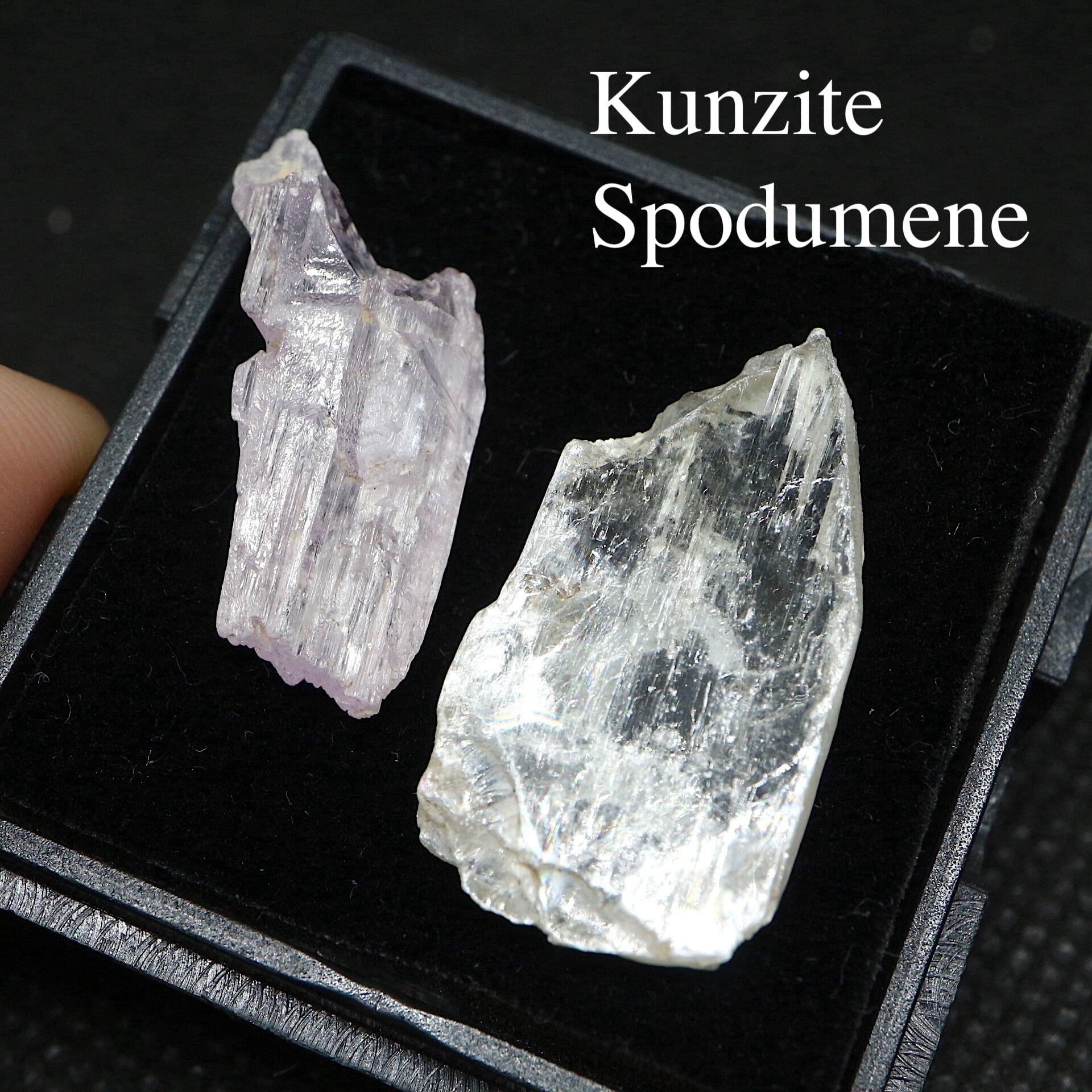 カリフォルニア産 クンツァイト スポデューメン ケース 自主採掘 リシア輝石  KZ043 鉱物 天然石 原石