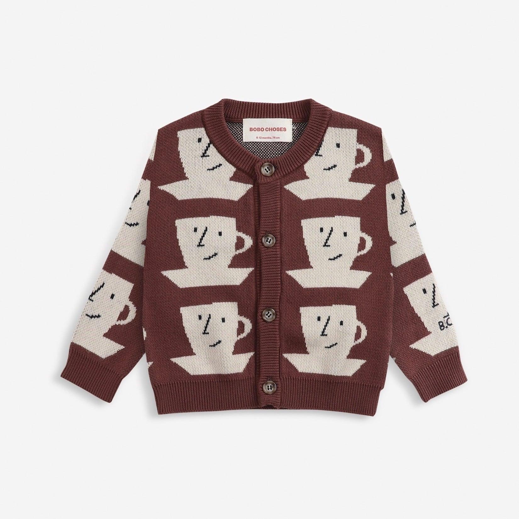 《BOBO CHOSES 2021AW》Cup Of Tea knitted cardigan / 12-36M