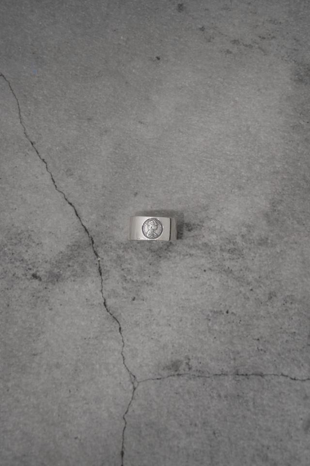 """Addiction design ring silver 925  """"coin"""""""