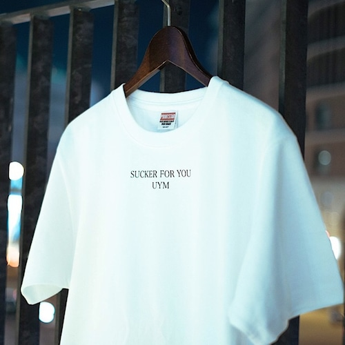 """18s/s """"SUCKER FOR YOU"""" white tee"""