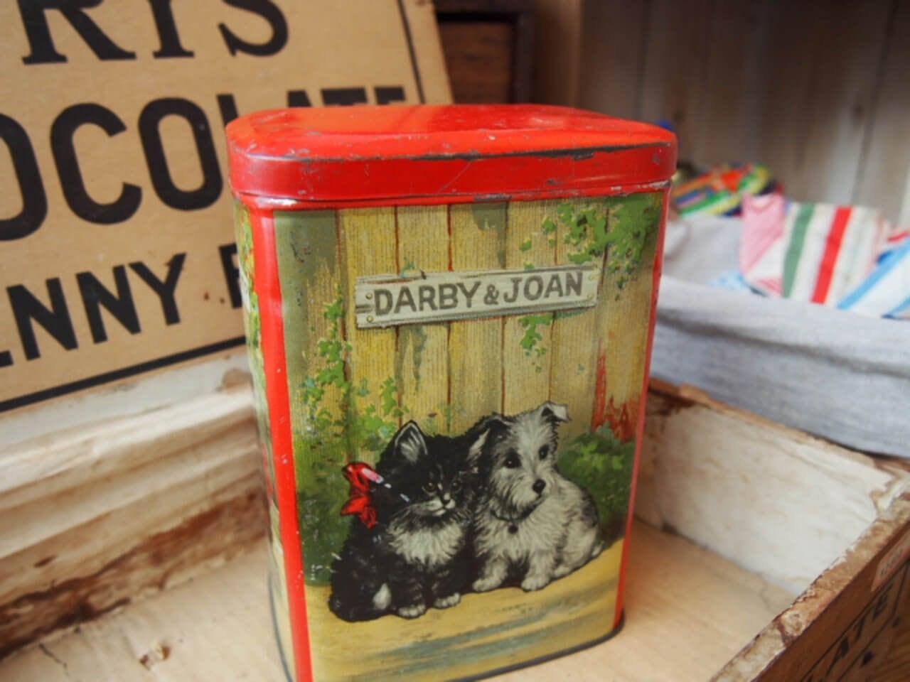 イギリスアンティーク お菓子の缶