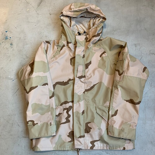 00's U.S.ARMY ECWCS GORE-TEXパーカー デザートカモ 米軍 VALLEY APPAREL LLC SPO100-04-C-4195 LARGE SHORT ミリタリー 希少 ヴィンテージ BA-1182 RM1551H