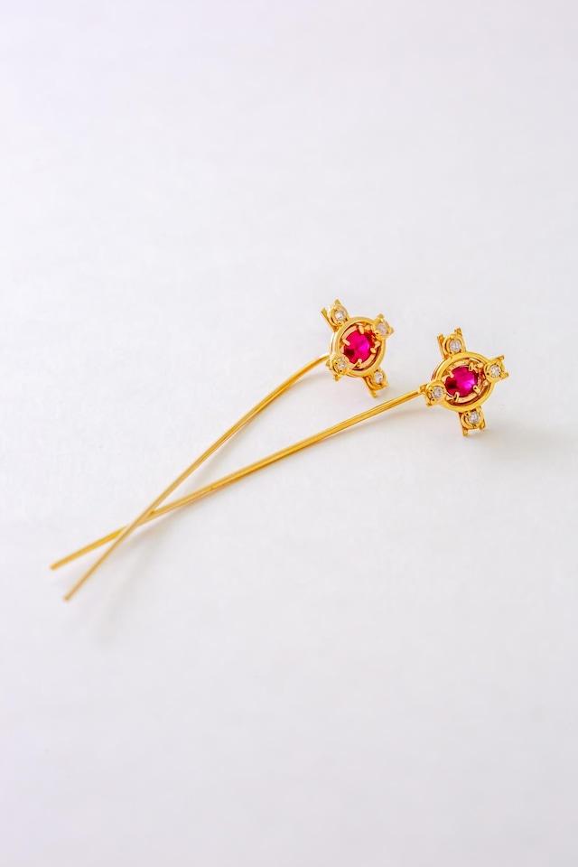 stick Piercing mogok ruby