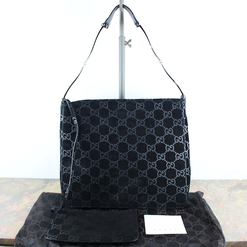 .GUCCI GG PATTERNED EMBOSSED SEMI SHOULDER BAG MADE IN ITALY/グッチGG柄型押しレザーセミショルダーバッグ2000000051567