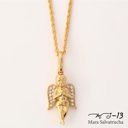 【MS-13】K18GP エンジェル チャーム S チェーンセット(ゴールド)
