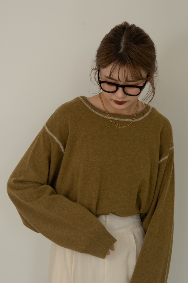 silky balloon sleeve knit