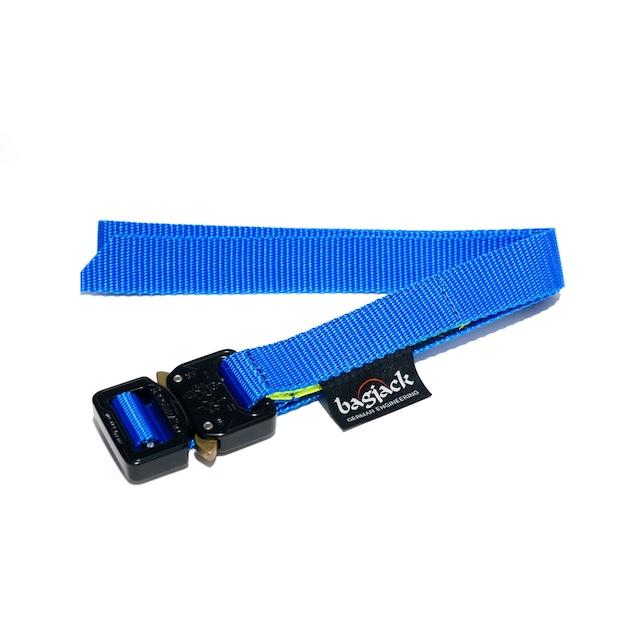 【bagjack】 cobra 25mm belt BLU×BLK