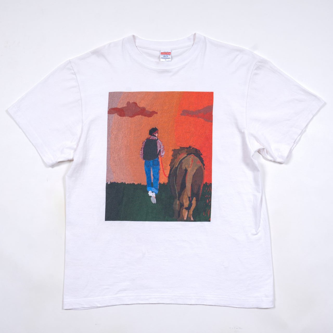 最強のオタクTシャツ.TS05 White