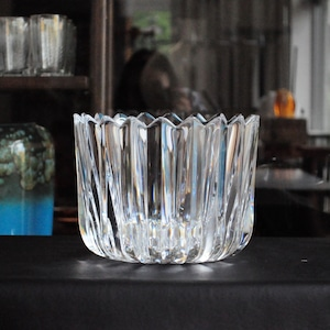 Crystal Fleur Round Bowl by Jan Johansson for Orrefors
