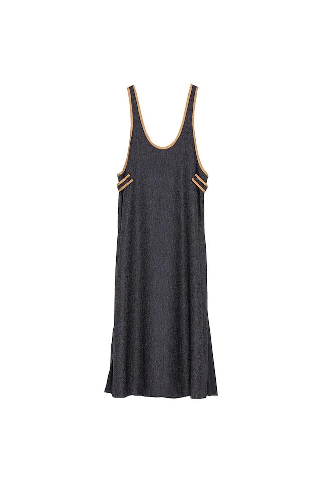 パイピングジャンパードレス< black >