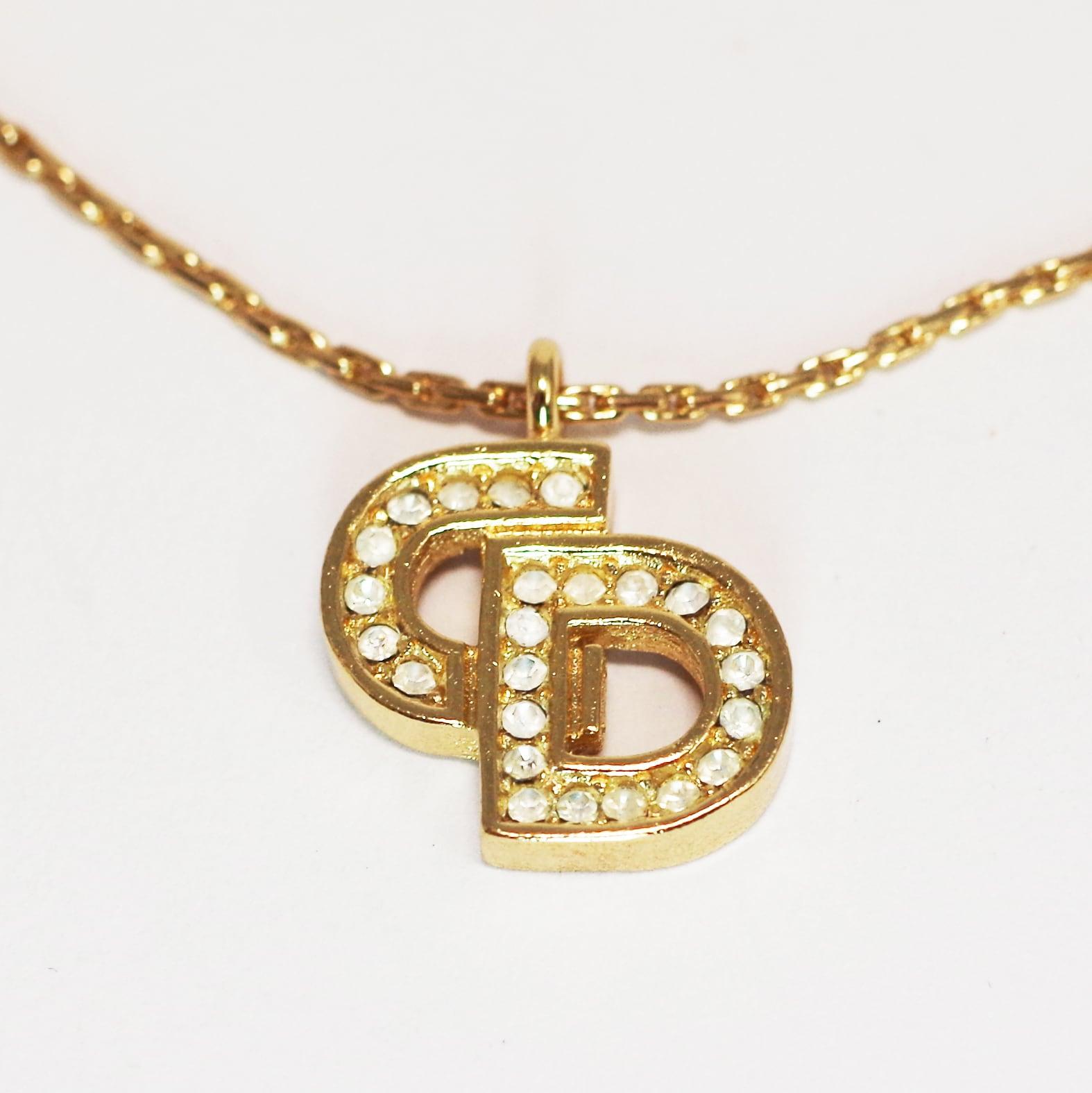 Christian Dior ディオール CDネックレス ゴールド アクセサリー