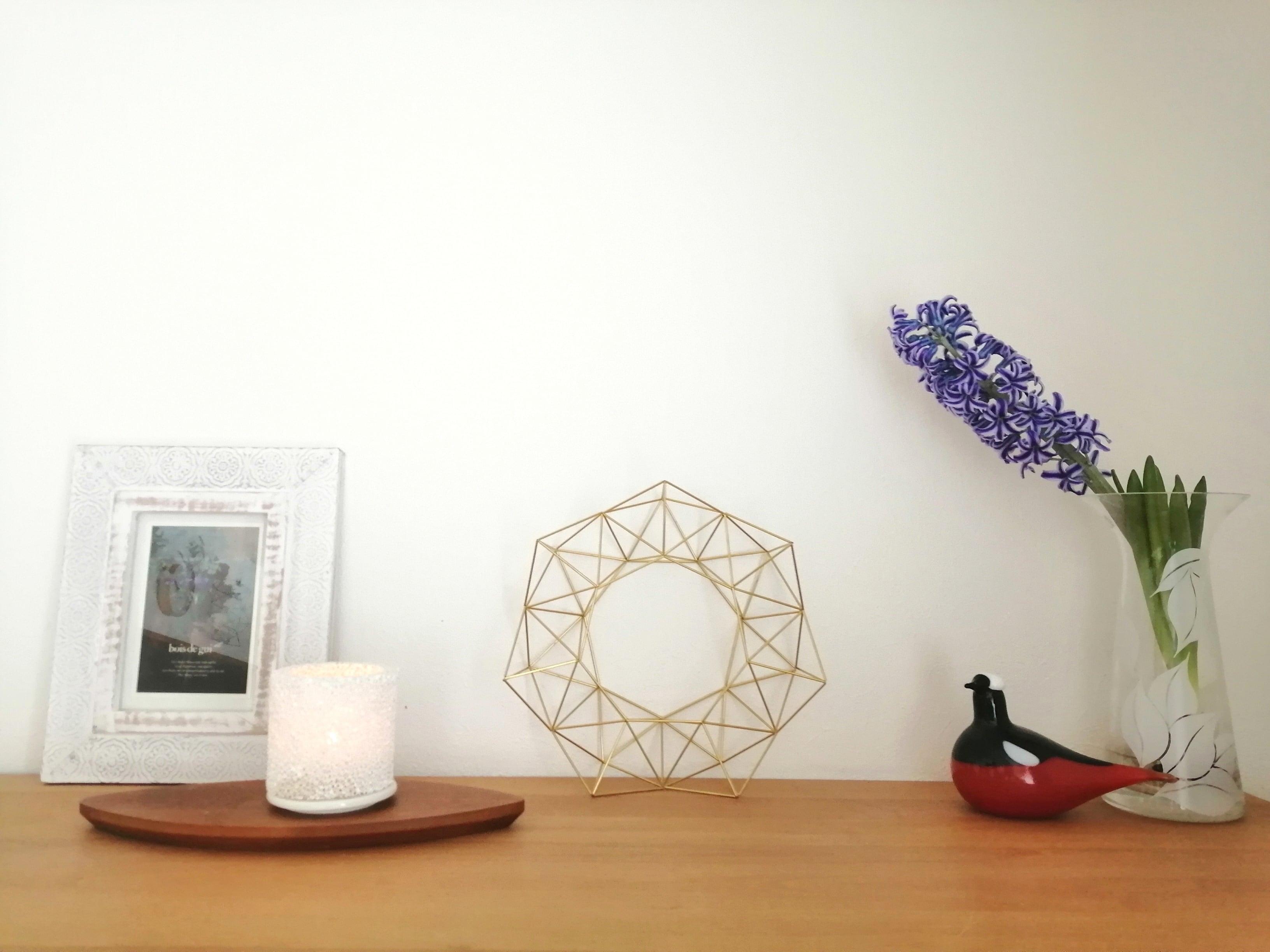 1年中飾れる真鍮製のヒンメリリースM (直径25cm)お花なし