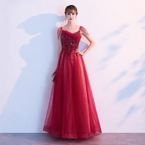 イブニングドレス 赤 レッド スパンコール カラードレス ロングドレス 結婚式二次会 発表会 披露宴 演奏会 大きいサイズ  小さいサイズ8018