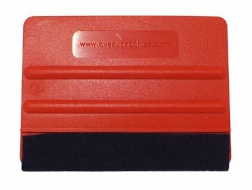 ラッピングフィルム用 AVERY Tool スキージー 赤 (柔らかめソフトタイプ・ウールフェルト付き)