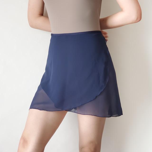 NORMAL wrap skirt【オールネイビー】