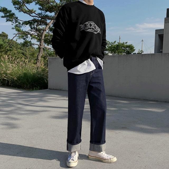Mid waist indigo jeans   b-529