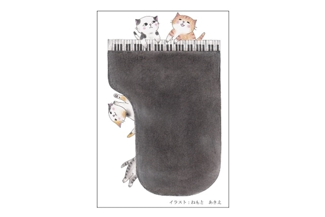 ピアノ猫のポストカード(4枚セット)