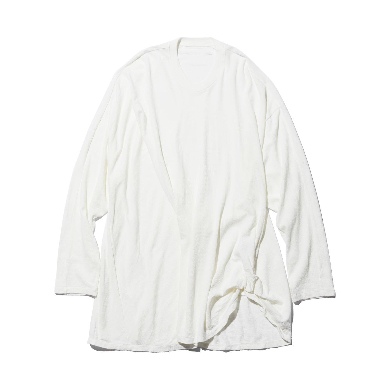 747CUM5-OFF / タックドロングスリーブTシャツ