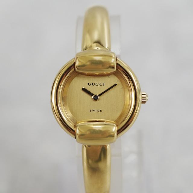 GUCCI グッチ 1400L クォーツ ゴールド文字盤 腕時計 レディース