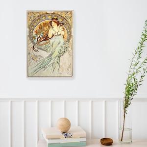 素敵なアートパネル A4サイズ 四芸術-音楽 アルフォンス・ミュシャ