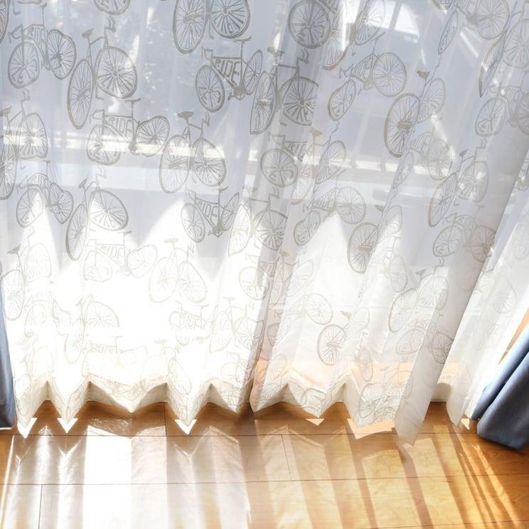 【最短6営業日で出荷】オパールレースカーテン「Carter カーター ホワイト」 (幅×丈):100×133cm(2枚組) ac-0075