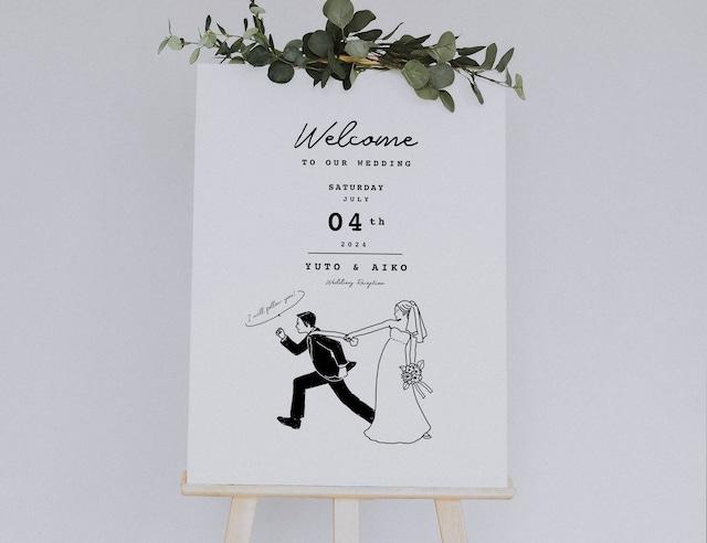 <Bride&Groom?C> ウェルカムボード