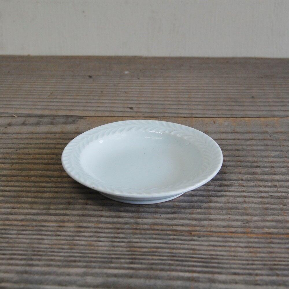 感器工房 波佐見焼 翔芳窯 ローズマリー リムプレート 皿 約10cm ホワイト 333102