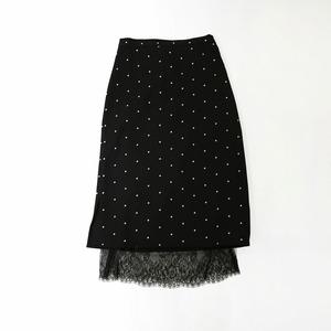 【即日発送】ドット柄レーススカート