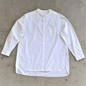 【11月追加予定】<OSOCU> Chita-momen band collar shirt 愛知の素材と技術で作る「伝統を日常で愉しむシャツ」