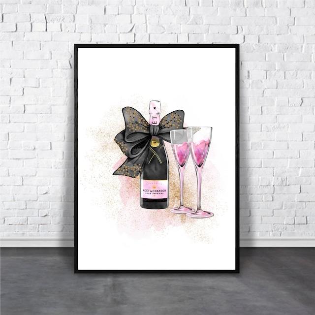 Champagne / 【アートポスター専門店 Aroma of Paris】[AP-000179]