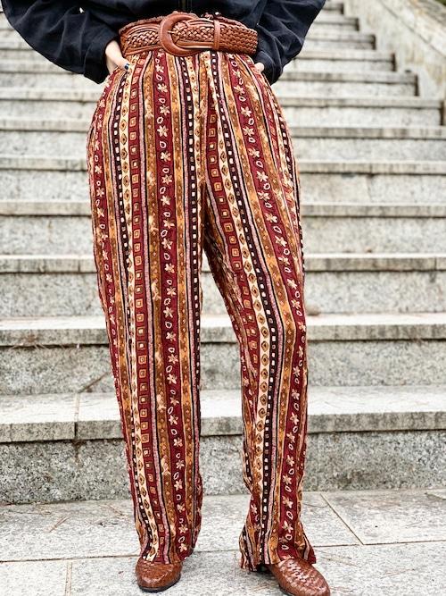 Vintage Boho Pattern Pants