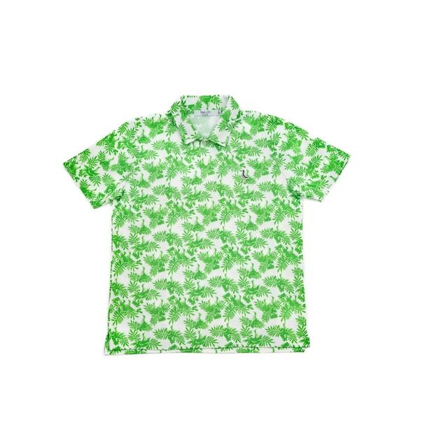 【 MEN'S 】サンゴクロス ポロシャツ 【やんばる ティーチくん 】(GREEN)