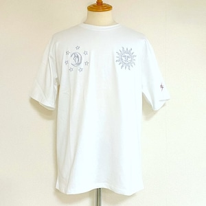 Sun & Moon Embroidery T-shirts White