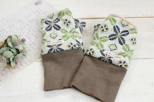指なし手袋*ハンドウォーマー グリーン/Hippo 型番:Hip-021