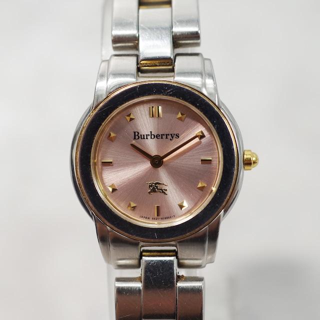 Burberrys バーバリー 5421-H11399 クォーツ SS ピンク文字盤 腕時計 レディース